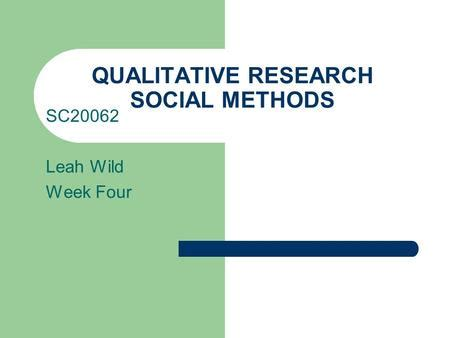 How to write a qualitative research problem statement